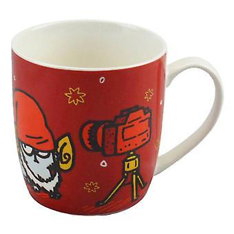 Simon & Katze Weihnachten Porzellan Becher