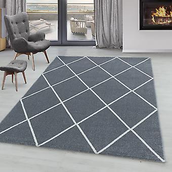 Tappeto del soggiorno IROH short pile design losanga linee moderne colori semplici