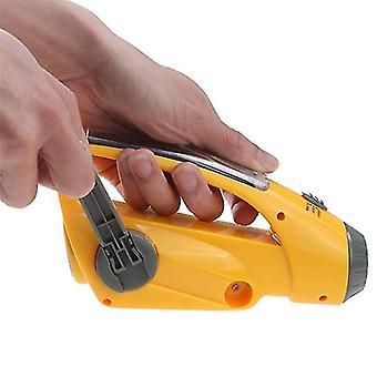 Digital Hand Vev Solar Självförsörjande Dynamo AM /FM radiomottagare med ficklampa mobiltelefonladdare