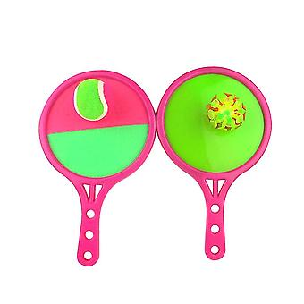 1 Set Dual Side Toss Catch Ball Sticky Sucker Paddle Throw Ball Self-stick hračky Outdoor Interaction Game Parent-child Leisure Sports Toys (2 Board, 2