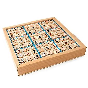 Houten Sudoku Spelbord met Lade (Blauw)