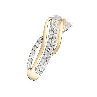 Anillo 'Ara' Oro Amarillo y Diamantes