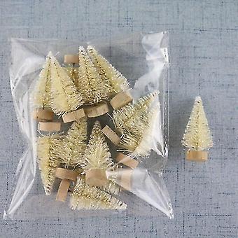 مصغرة شجرة عيد الميلاد سيسال الحرير الأرز الديكور