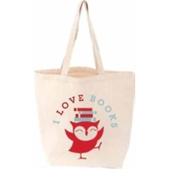 I Love Books LITTLE TOTE FIRM SALE by Designed by Gibbs Smith Publisher