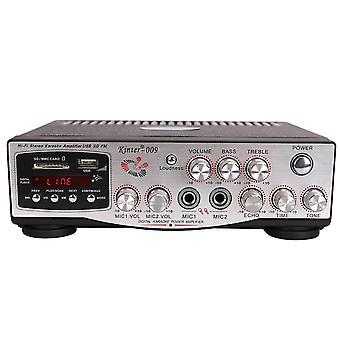 Kinter-009 2x100W HIFI Häviötön vahvistin 220V kaukosäätimellä Tuki Muistikortti USB FM Microp