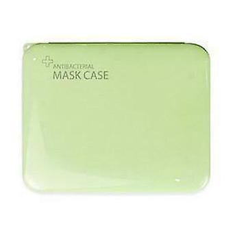 (Green) Portable Plastic Face Mask Storage Box Case Face Shield Holder Organizer Pouch
