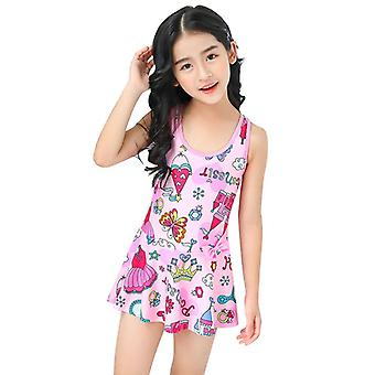 Girl's swimsuit one-piece cute swimming trunks for children