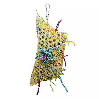 Bird climbing net parrot toy(Red)