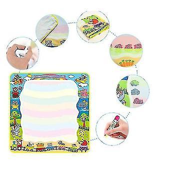 Magic Doodle Mat taikakynillä, veden värikäs matto lapsille Lasten aktiviteetti (VIHREÄ)