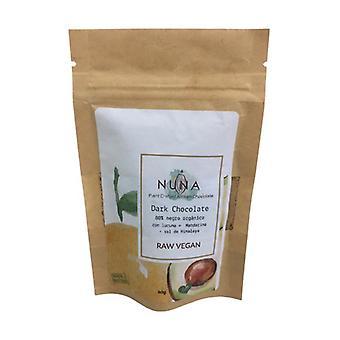 80٪ شوكولاتة نباتية داكنة خام مع لوكوما واليوسفي 40 غرام
