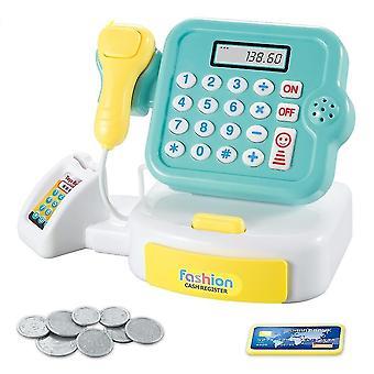 Educational Cash Register Toy- Diy Interaction Supermarket Light Sound