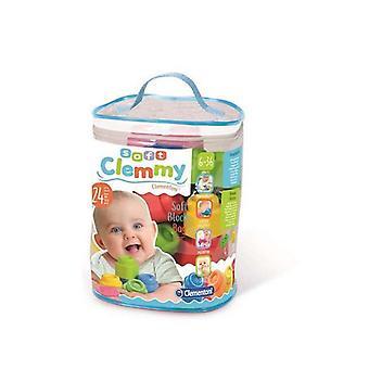 Building Blocks Peli Baby Clemmy Clementoni (24 kpl) (13 x 20,5 x 26,5 cm)