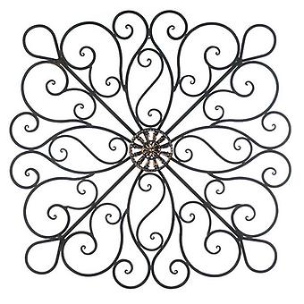 Accent Plus Wrought Iron 36-inch Bronze Scrolled Wall Decor, Pack of 1