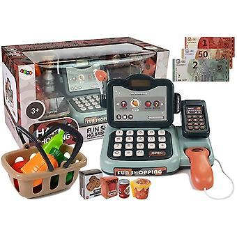 Spielzeugkasse - Set mit Mikrofon - Scanner und Kartenleser - mit Ton
