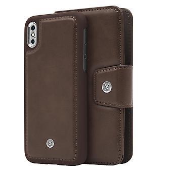 iPhone Xs Max Marvêlle Magnetiskt Skal & Plånbok Mörkbrun Basic