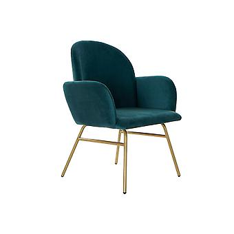 Armchair DKD Home Decor Green Polyester Metal (63 x 65 x 85 cm)
