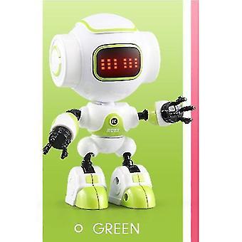 Robotic toys jjrc r8 mini smart robot led eyes diy vector robot combat robo toy for |rc robot green