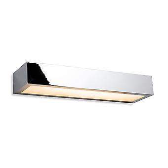 Firstlight Zulu Bagno Down Light LED Applique - 300mm Cromo con Diffusore in Vetro Opalino IP44