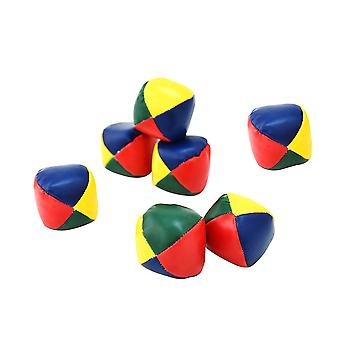 7pcs Classic Jongle Sitzsäcke Pu Leder Jonglierbälle Spiel Set Spaß Indoor Outdoor Spiel Spielzeug für Kinder