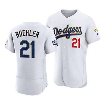 Men's Baseball Jersey 5 Seager 21 Buehler 34 Valenzuela 42 Robinson Dodgers Player Jersey 90s Hip Hop Game Fans Sports Baseball Uniforms Size S-xxxl
