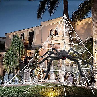 Halloween-Dekorationen im Freien, 125cm Riesenspinne, Halloween Outdoor Scary Dekorationen