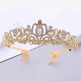 Braut Hochzeit Tiara Kopfbedeckung Haar Accessoires Abschlussball Krone Performance Stirnband