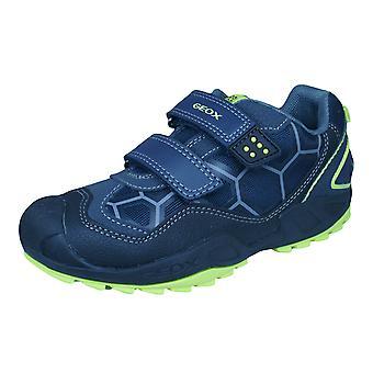 Geox J N Savage B.B pojkar utbildare / skor - marinblå och svart