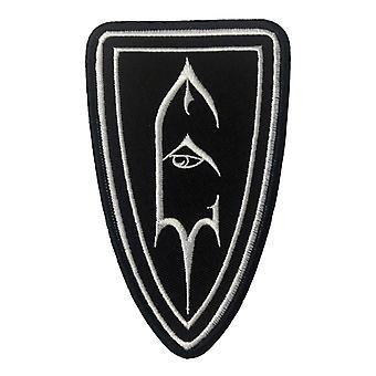 Keizer Patch Shield symbool Logo officiële nieuwe zwarte katoenen naai 7 x 11,5 cm