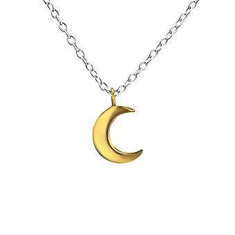 Crescent Moon - 925 Sterling Silver Plain Necklaces - W27854X