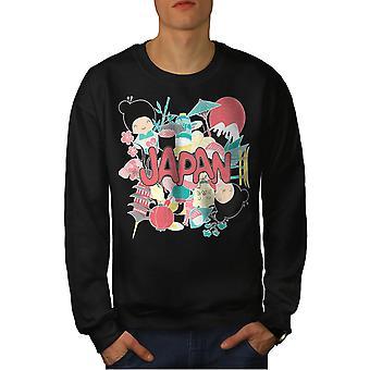 Japan Culture Men BlackSweatshirt   Wellcoda