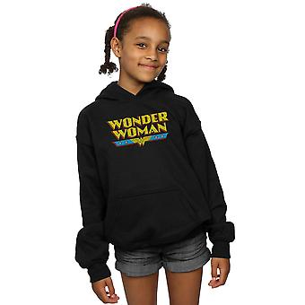 DC Comics Girls Wonder Woman Crackle Logo Hoodie