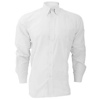 Dickies camisa de Oxford de algodón y poliéster de manga larga / camisas del Mens