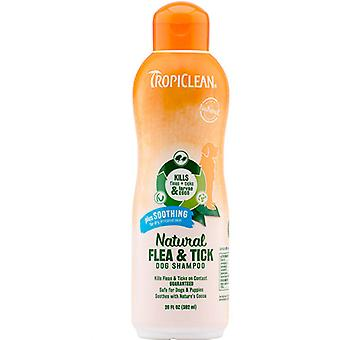 Tropiclean Natural Flea and Tick Dog Shampoo Plus Soothing