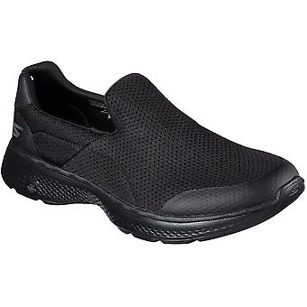 Skechers Mens Go Walk 4 - Midsole Incredible Slip On Textile Active Trainers