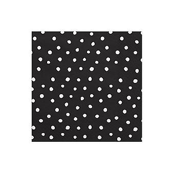 BLACK Napkins white Dots Pack of 20 Dino Party Range