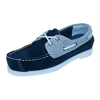 Timberland EarthKeepeers Peakisl 2I Kids Boat / Deck Shoes - Navy