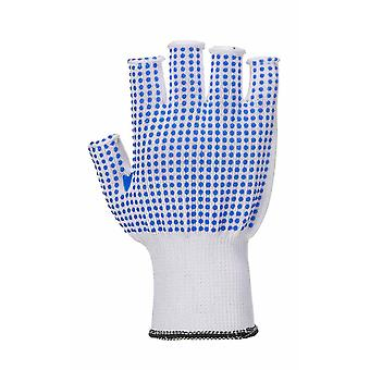 Portwest All Purpose Fingerless PolkaDot Grip Gloves (1 Pair Pack)