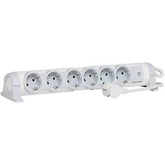 Legrand 694636 Socket strip (+ switch) 6x White, Grey PG connector