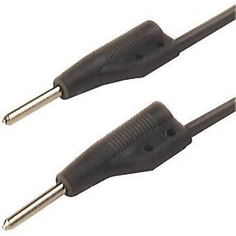 SKS Hirschmann MVL 2/50 sw Przewód testowy [wtyczka 2 mm - wtyczka 2 mm] 0,50 m Czarny 1 szt.