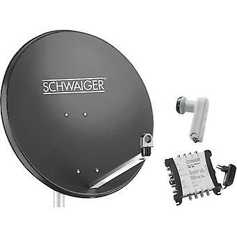 Schwaiger SPI9961SET6 SAT system m/o mottaker Nr. av deltakerne: 8 80 cm
