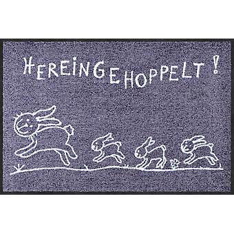 Salon lion paillasson Hereingehoppelt 50 x 75 cm. saleté lavable mat