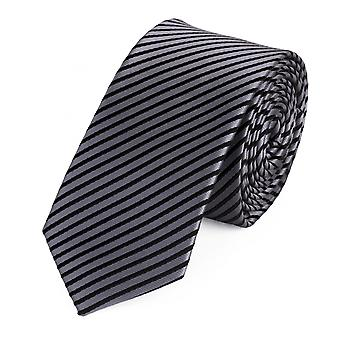 Tie slips tie slips 6cm silver grå svart randig Fabio Farini