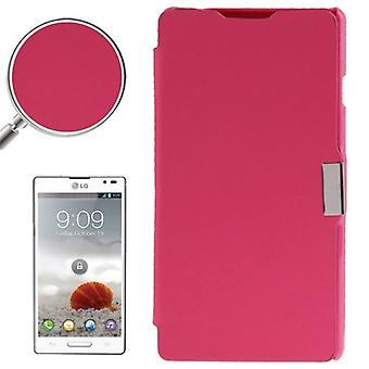 Etui de téléphone portable pour LG Optimus L9 / P760 rose brossé