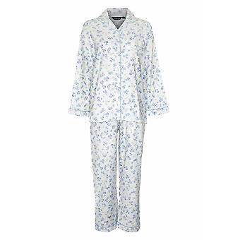 Champion Blue Sea Naisten Kukka Lämmin Wyncette Puuvilla Pyjamas - Sininen - 24-26