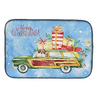 Carolines tesouros CK2442DDM feliz Natal Beagle prato esteira de secagem