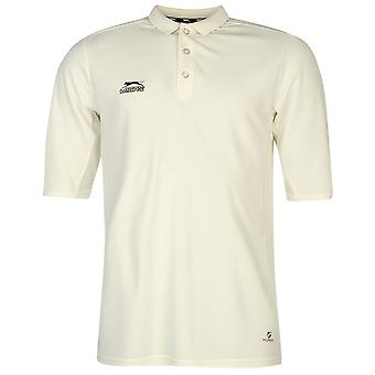 Slazenger Mens drie kwart Cricket Polo Shirt Tee Top Casual zomersport