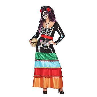 Las mujeres trajes Halloween esqueleto vestido mexicano