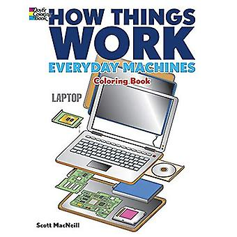 Hoe dingen werken - dagelijks Machines Coloring boek (hoe dingen werken (Dover))