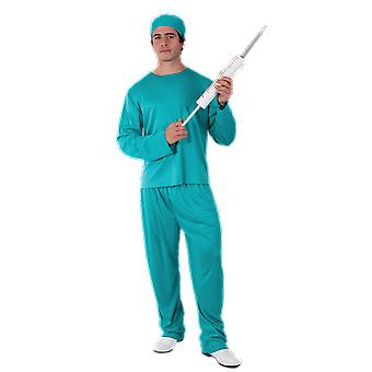 Orion Costumes Mens Doctor Hospital Blue Scrubs Surgeon Fancy Dress Costume