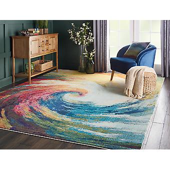 07 celestial onda rectángulo alfombras alfombras Funky
